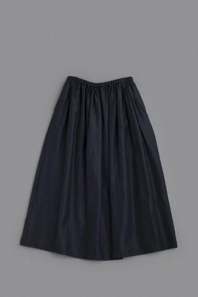 ゴーシュ ♀ ラミーコットンローン ギャザースカート (ネイビー)