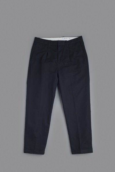 STILL BY HAND C/L Kersey 1-Tuck  Tapered Pants (Navy)