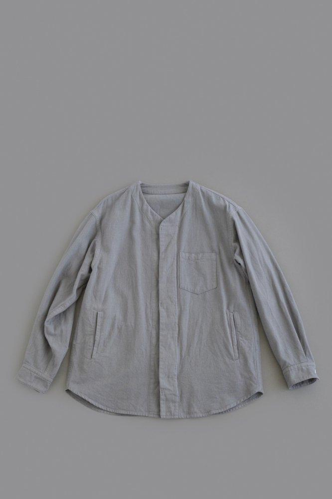 ゴーシュ  ♀ インディアダック Vネックシャツジャケット (ミディアムグレー)