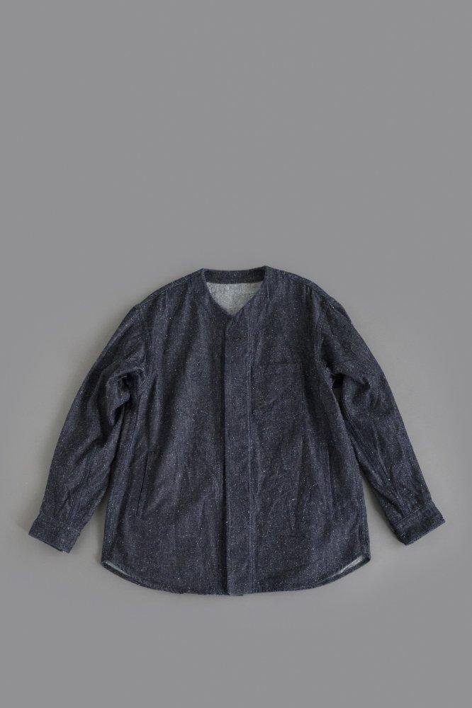 ゴーシュ  ♀ コットンシルクデニム Vネックシャツジャケット