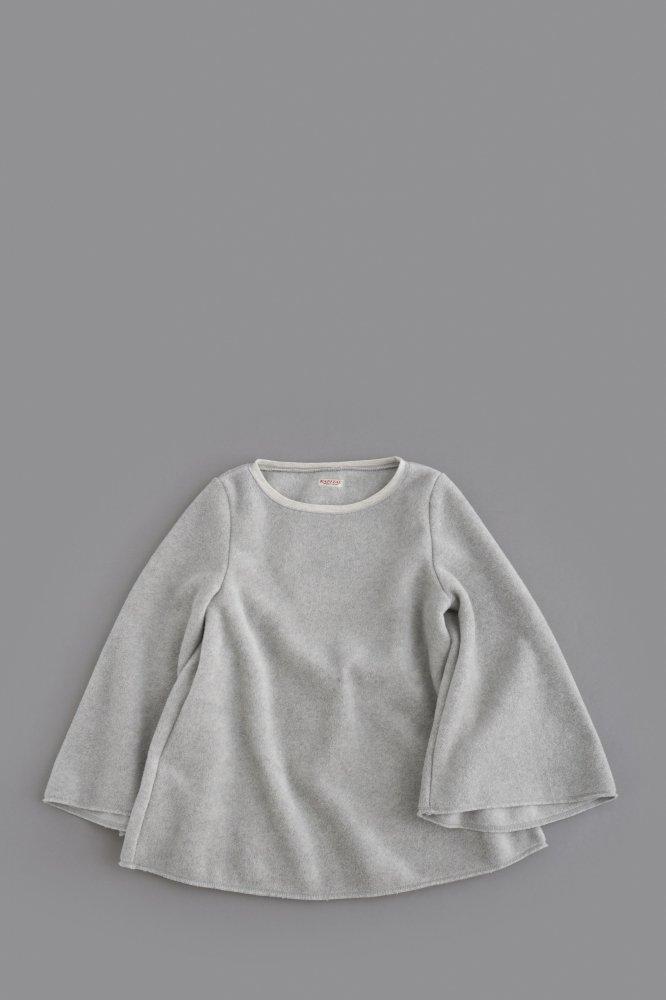 KAPITAL ♀ リバースフリース ベルTシャツ (キナリ)