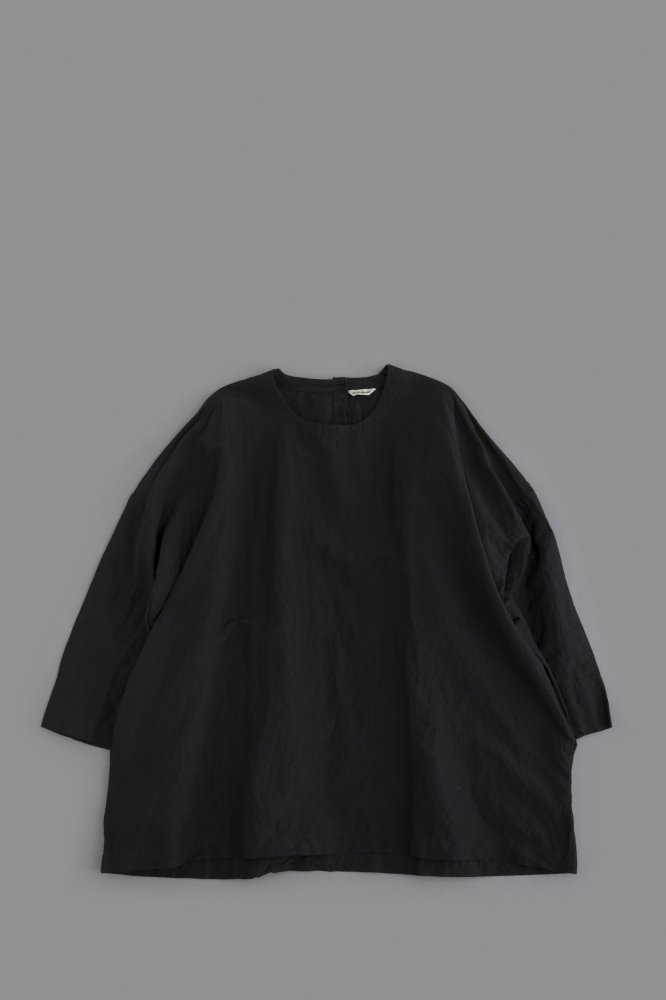 jujudhau ♀ SMALL NECK SHIRTS (L/C BLACK)