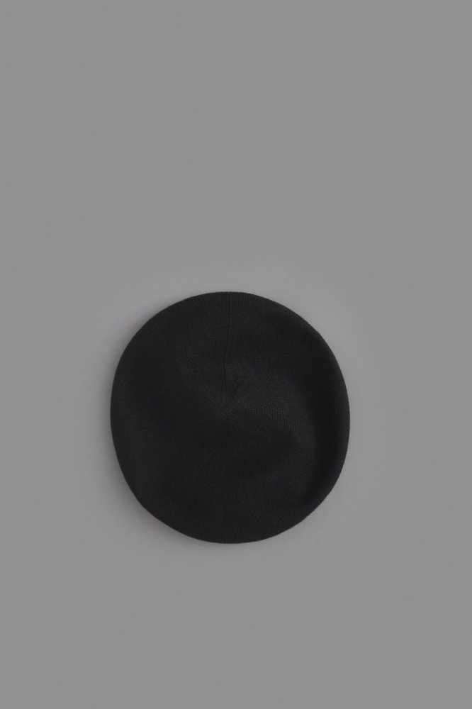 FIRMUM Linen & Cotton Knit Beret (Black)