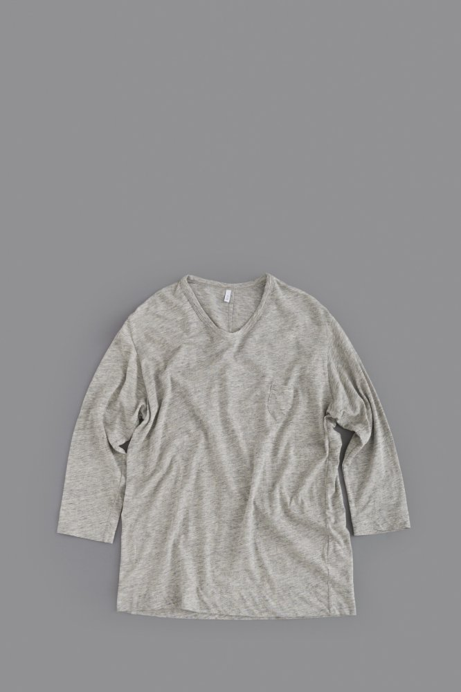 FIRMUM 1P U-Neck 7/10 Sleeve (Grey Top)