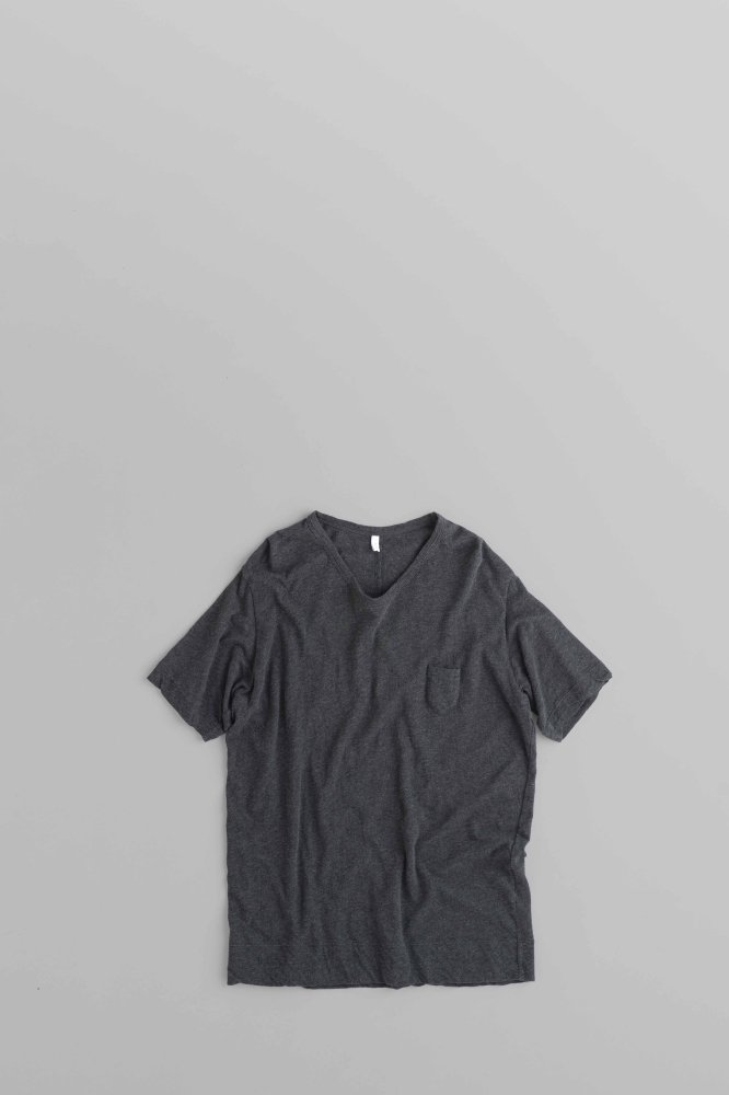 FIRMUM 1P U-Neck  5/10 Sleeve (Charcoal Grey Top)