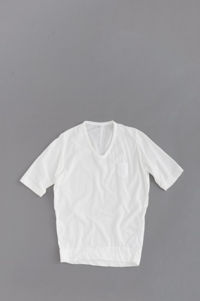 FIRMUM ♀ 1P U-Neck  5/10 Sleeve (White)