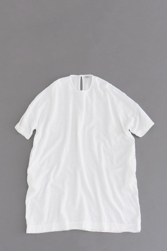 jujudhau ♀ BOX DRESS (RAYON WHITE)