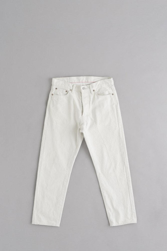 Ordinary fits 5Pocket Ankle Denim (White One Wash)