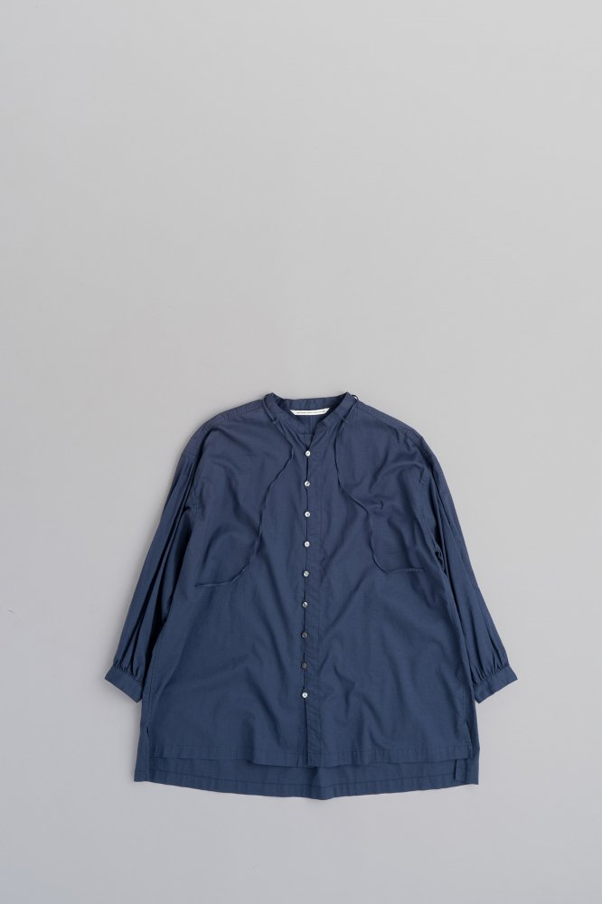 GRANDMA MAMA DAUGHTER ♀ Stand Ribbon Tunic (Navy)