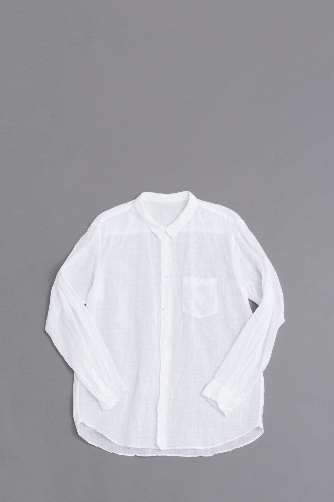 ゴーシュ  ♀100/1リネンコットン スモールカラーシャツ (ホワイト)