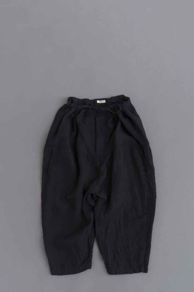 jujudhau ♀ DIAPER PANTS (LINEN H.B BLACK)