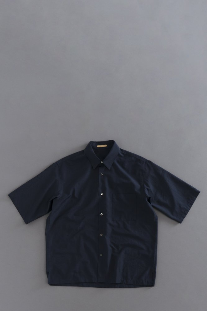 LA MOND Wide Shirts (Navy)