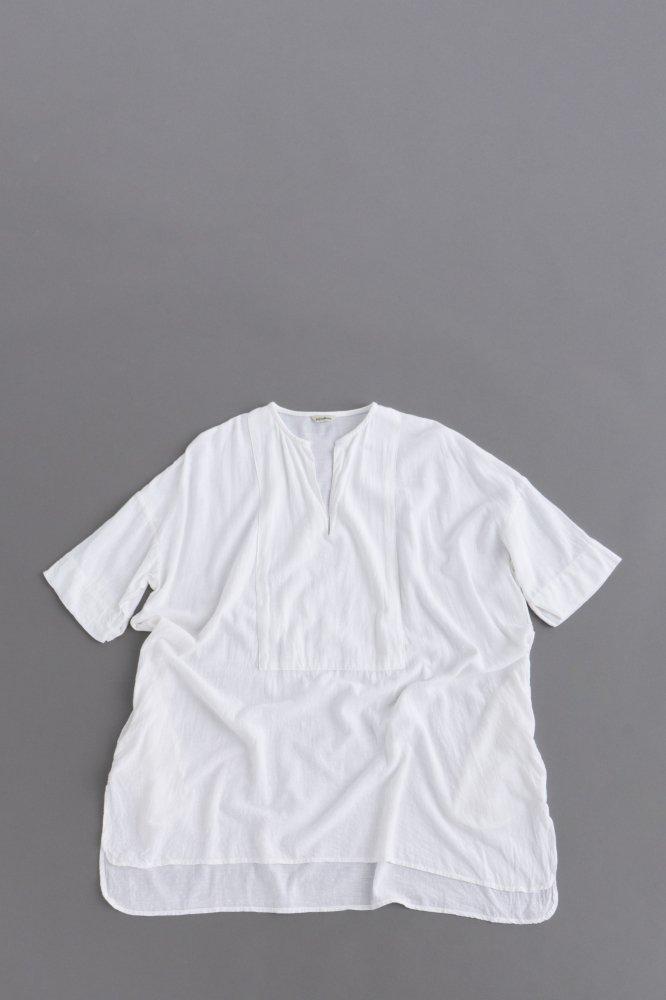 jujudhau ♀ KEY NECK SHIRTS (RAYON WHITE)