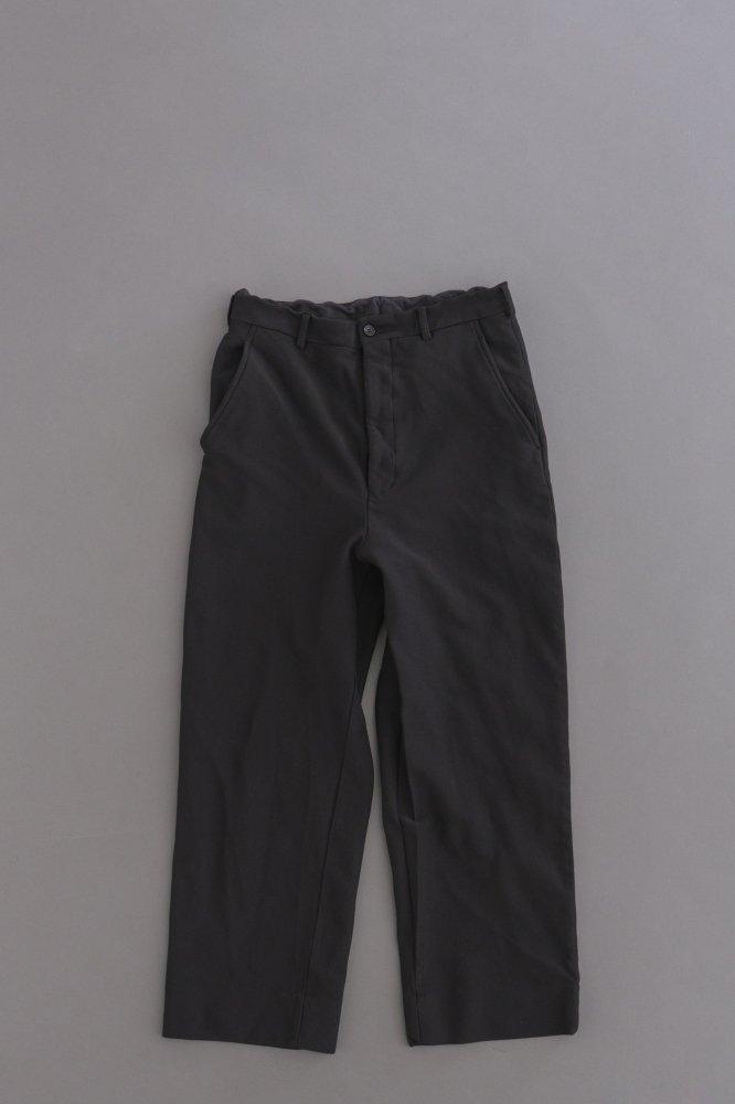 COMME des GARCONS HOMME Ester Twill Jersey Wide Pants (Black)