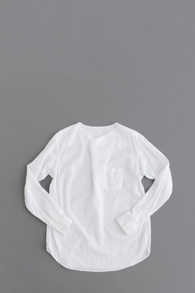 ゴーシュ  ♀50/1オーガニックツイル プルオーバーシャツ(ホワイト)