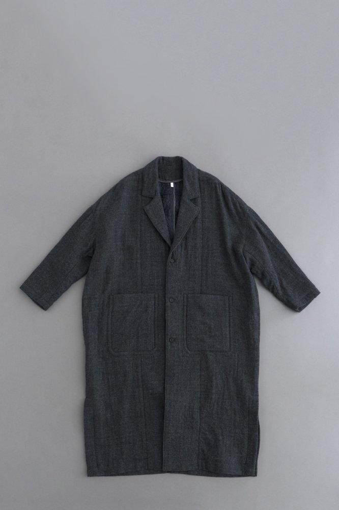 FIRMUM W/C Double Cloth Shop Coat (Grey × Blk)