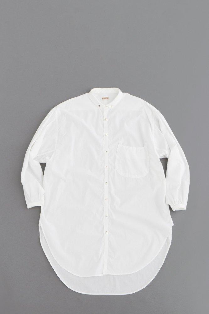 KAPITAL ♀ブロードボタンダウンジャイアントシャツ (ホワイト)
