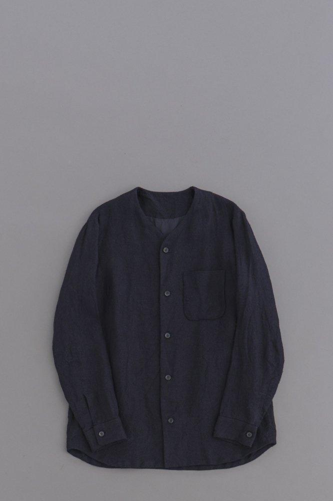 ゴーシュ ♀リネンシルクマット シャツジャケット (ネイビー)