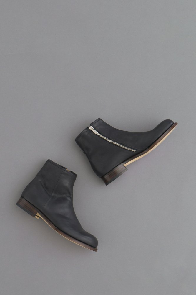 forme Side zip boots (Black Incal horse)