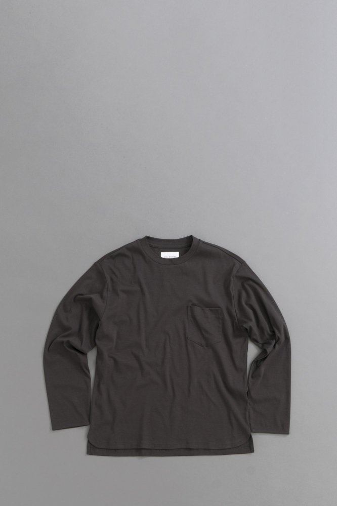 STILL BY HAND Pocket L/S  Pullover (Charcol)