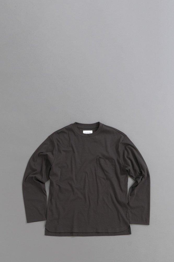STILL BY HAND Pocket L/S  Pullover (Charcol)