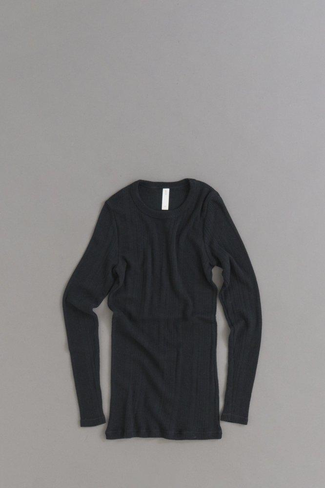 prit ♀ Random Rib Crew Neck Pullover (Black)