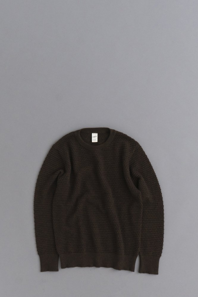 G.R.P. Knitwear Factory  Crew Neck Knit (Brown)