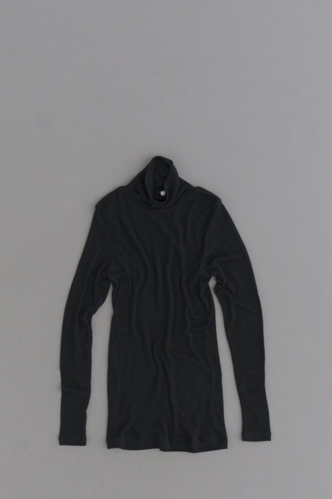 prit ♀ 1/60 Wool Rib Turtle Neck (Black)