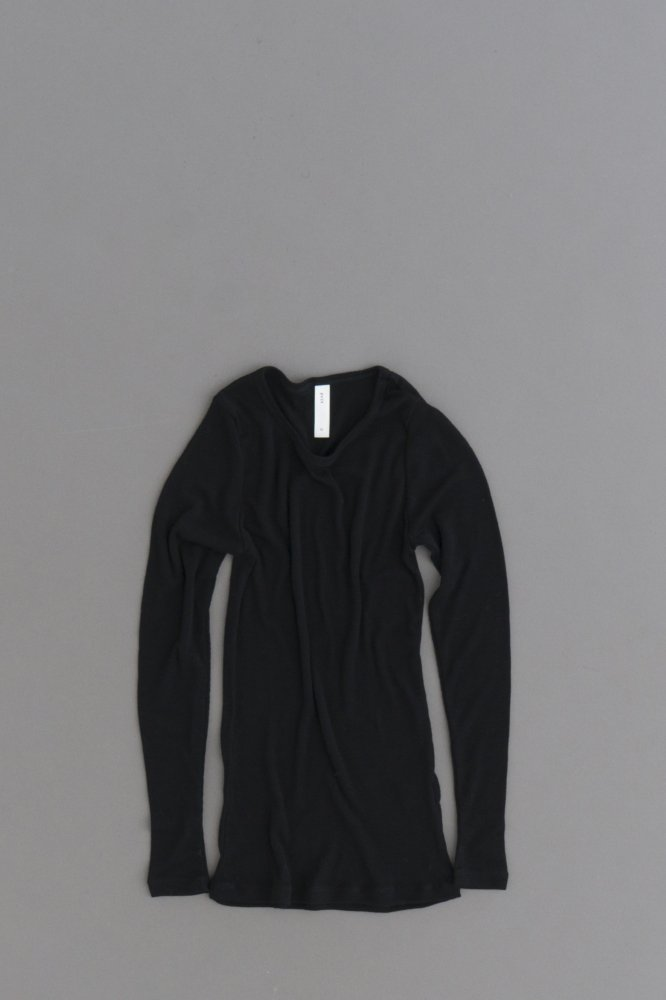 prit ♀ 1/60 Wool Rib Crew Neck (Black)