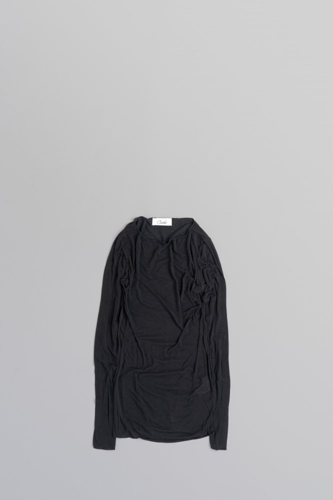 croche ♀Cashmere Blend Inner L/S (Nero)