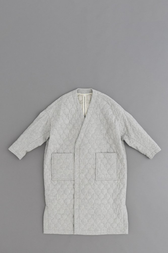 FIRMUM ♀Wool Quilt Coat (Light Grey Top)