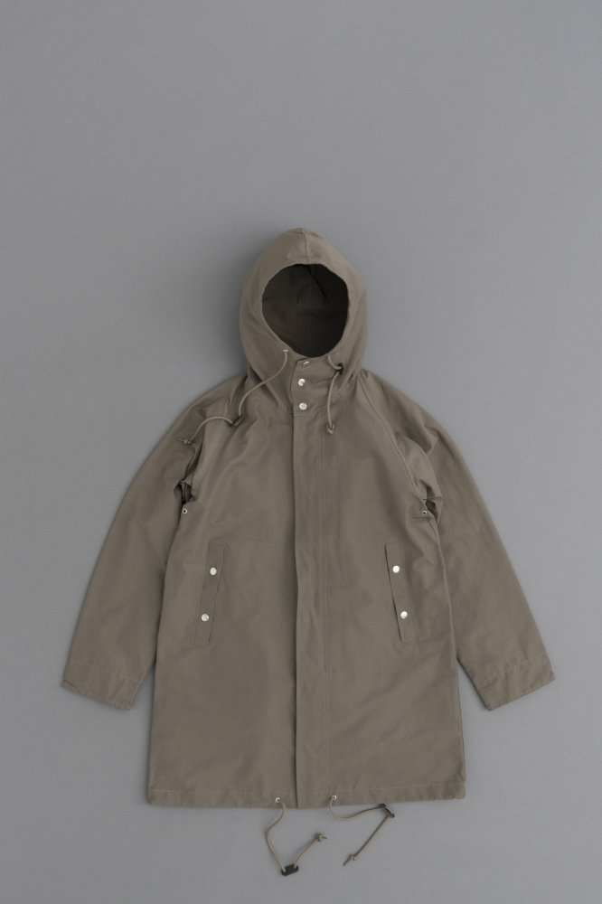ARAN HOODED COAT (GREY)