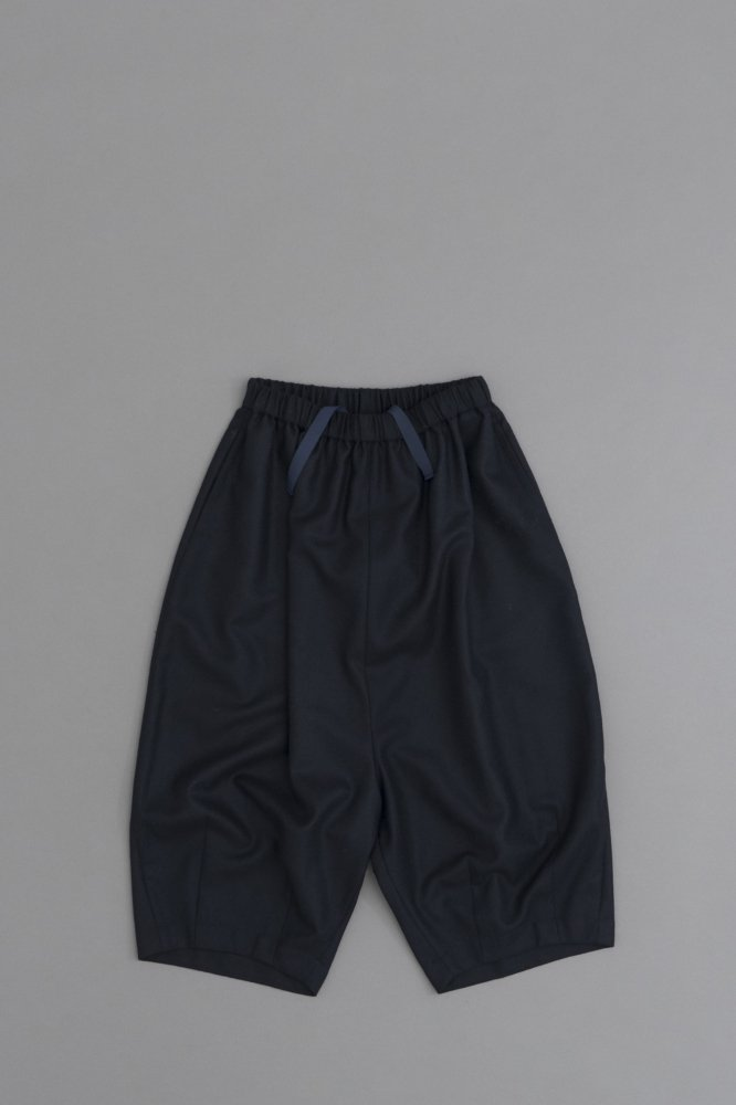 GRANDMA MAMA DAUGHTER ♀Wool Saruel Balloon Pants (Navy)