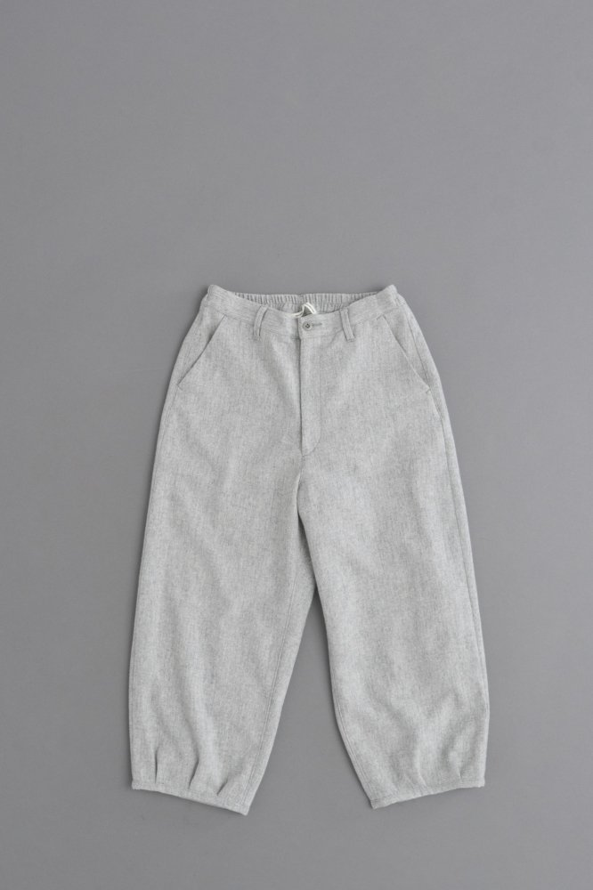 GRANDMA MAMA DAUGHTER ♀Top Flannel Balloon Pants (Gray)