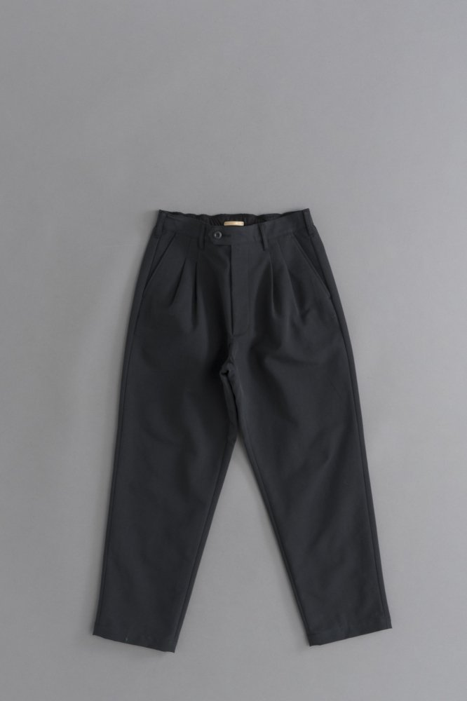 LA MOND DOUBLE WEAVE WIDE TAPERED TROUSERS (Sumi)