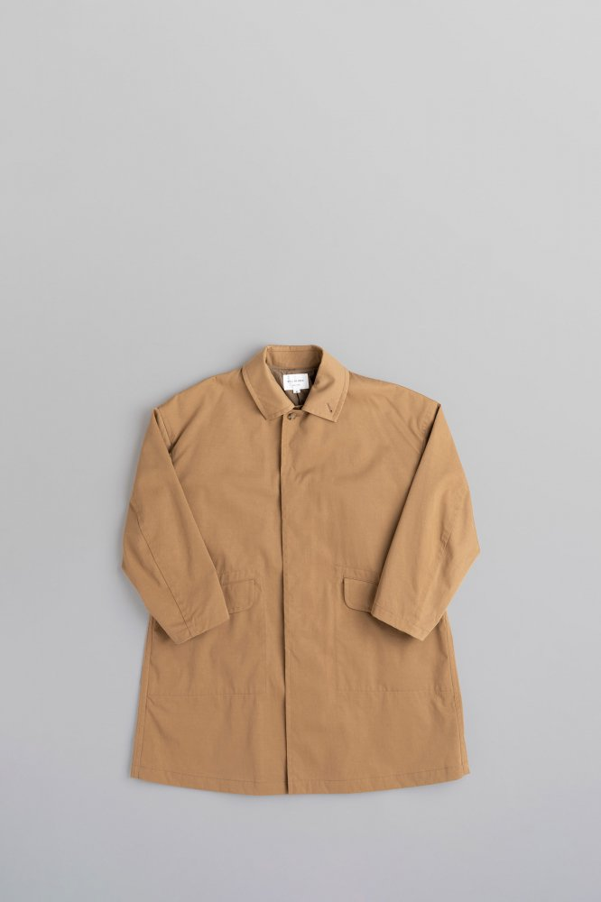 STILL BY HAND Nylon Soutien Collar Coat (Beige)