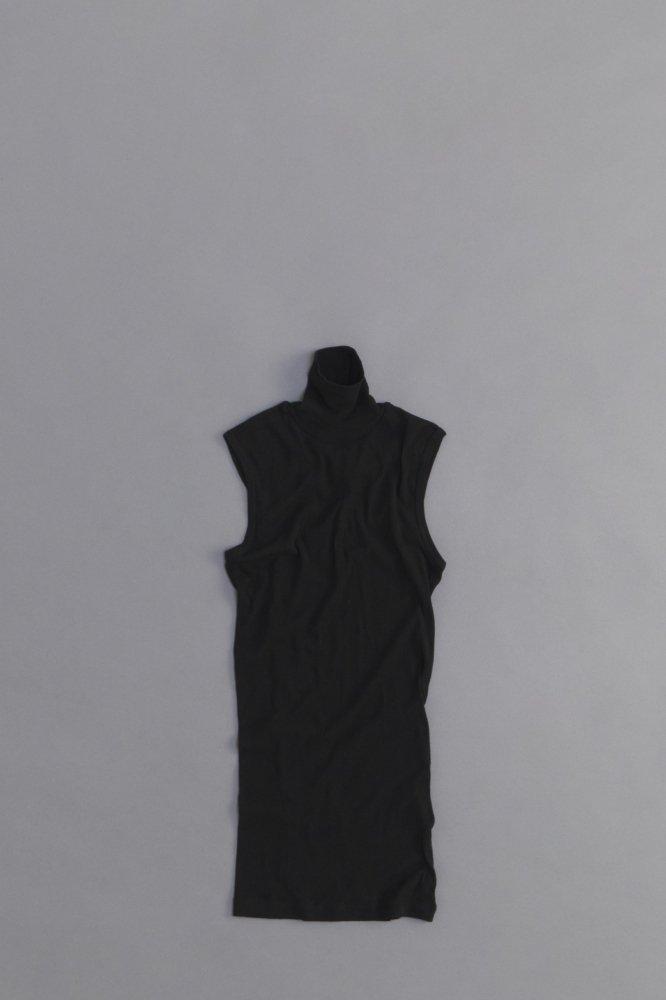 ゴーシュ ♀ 60/1 強撚フライス  ハイネック ノースリーブ(ブラック)