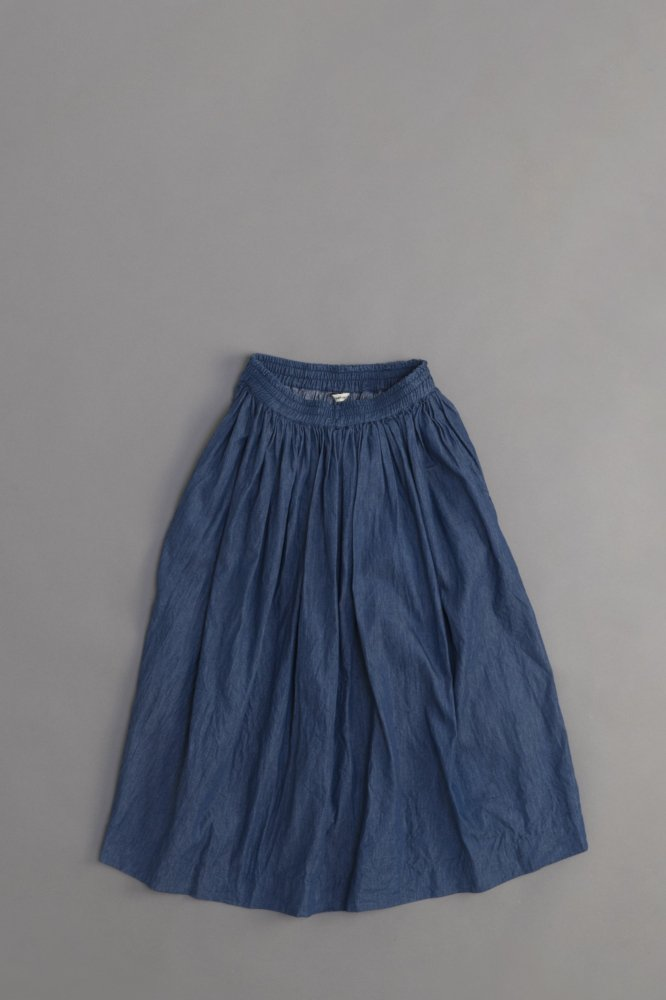 jujudhau ♀ GATHER SKIRT (DENIM)