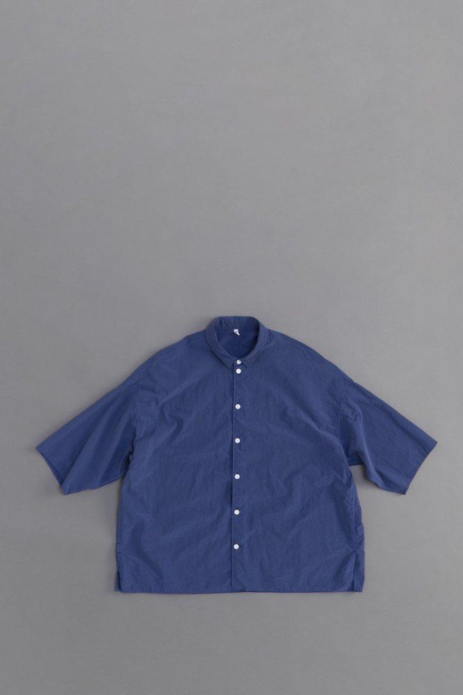 FIRMUM ナイロンタッサー ビッグシャツ (ネイビーブルー)