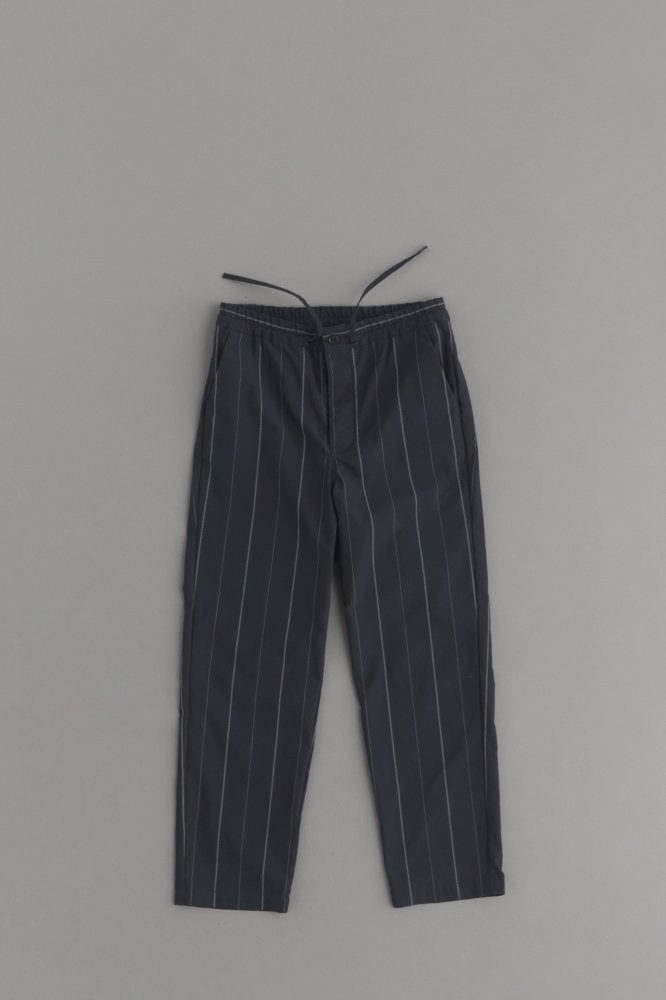 STILL BY HAND Navy Stripe Easy Pants