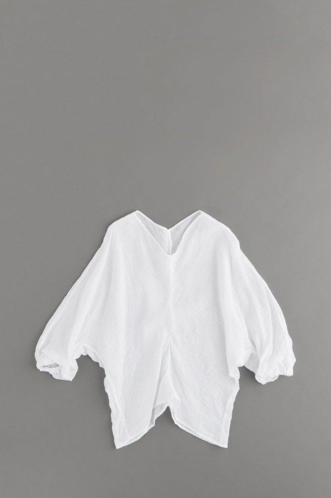 ゴーシュ ♀60/1リネンドビー Vネックプルオーバーシャツ
