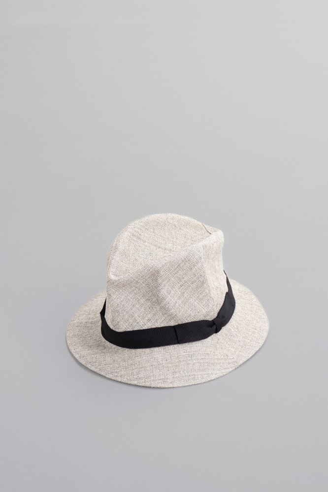 KIJIMA TAKAYUKI Paper Cloth Short Brim Hat (Light Gray)