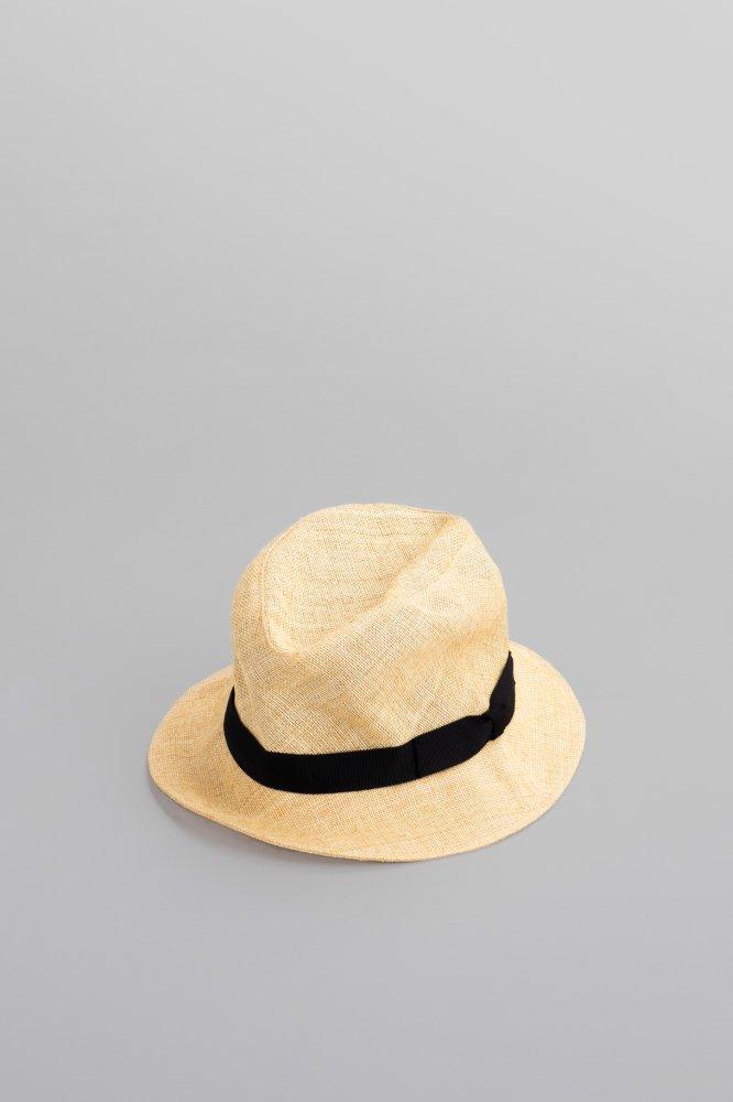KIJIMA TAKAYUKI Paper Cloth Short Brim Hat (Beige)