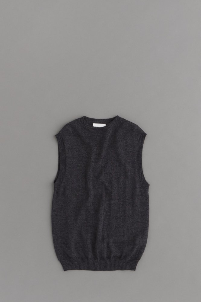 STILL BY HAND Knit Vest (Charcal)