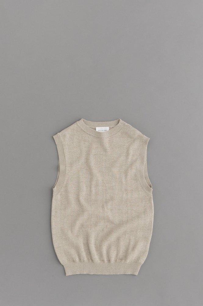 STILL BY HAND Knit Vest (Grey)