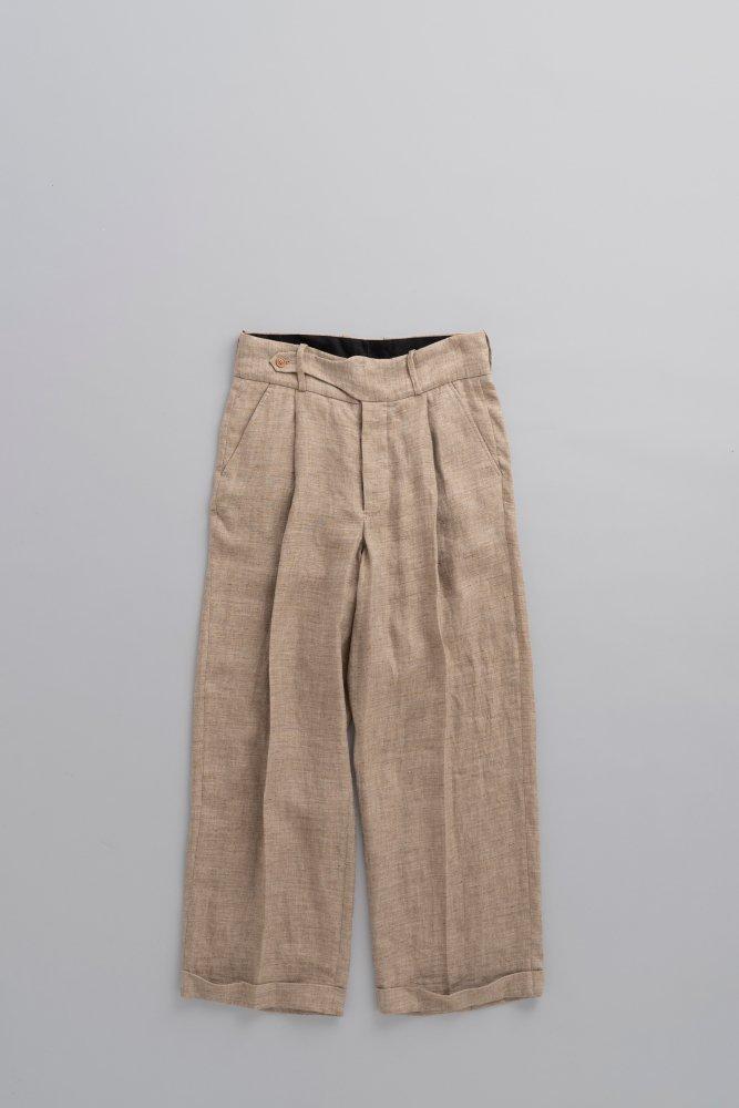 HAVERSACK Linen High Waist Wide Pants (Brown)