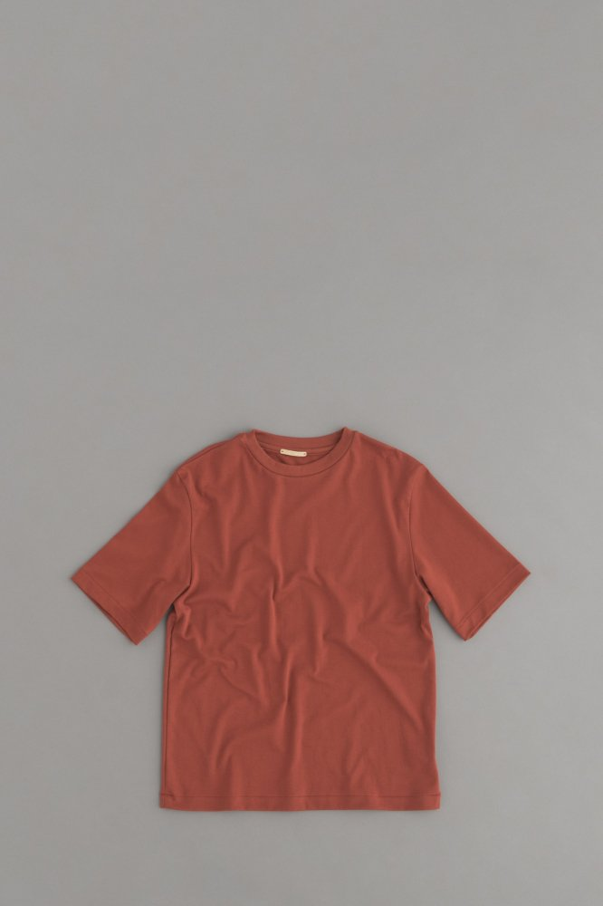 LA MOND SUVIN COTTON 5/10 T-Shirt (BORDEAUX)