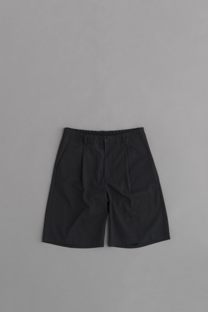 STILL BY HAND Summer Wool Shorts (Black)