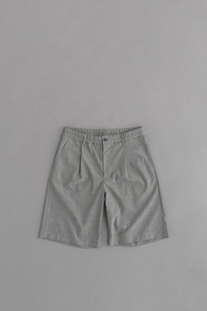 STILL BY HAND Summer Wool Shorts (Grey)