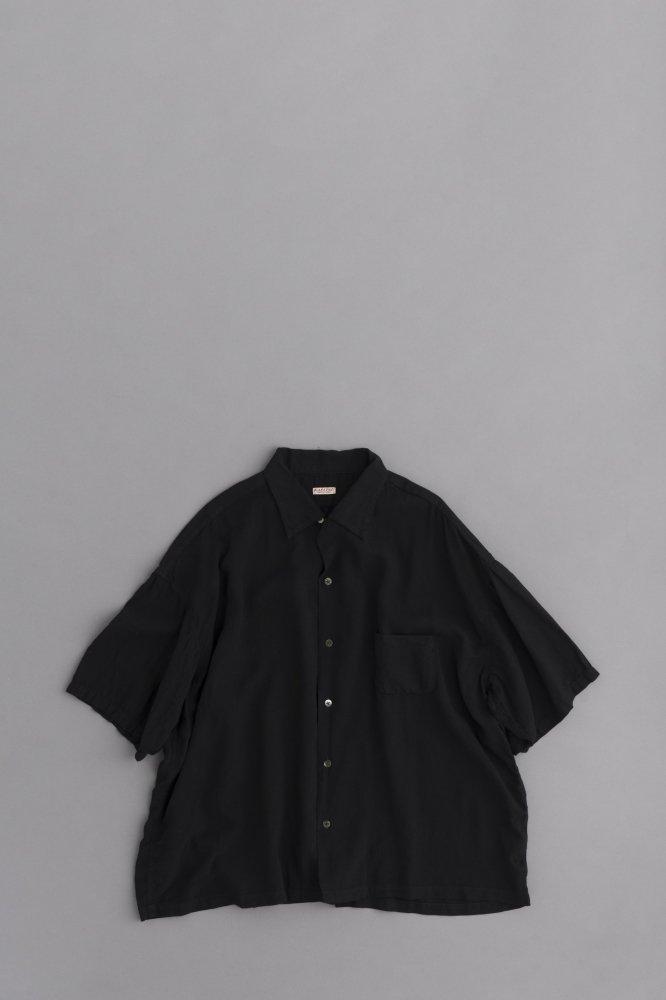 KAPITAL ソフトリネン 開襟BIGシャツ(ブラック)